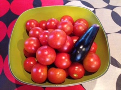 『ミニ家庭菜園の収穫』p(^_^)q
